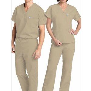 Brand new Unisex Small light beige MOBB scrubs
